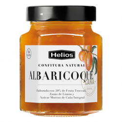 HELIOS Natural Apricot Jam Jar with 330 net grams - Conservalia