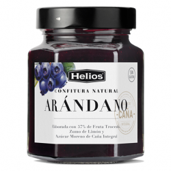 HELIOS Natural Blueberries Jam Jar with 330 net grams