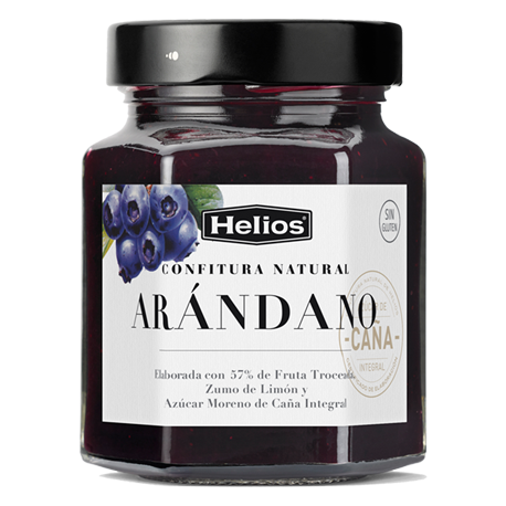 HELIOS Natural Blueberries Jam Jar with 330 net grams - Conservalia
