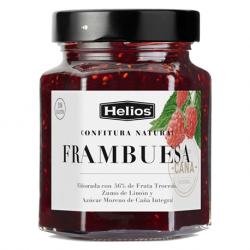 HELIOS Natural Raspberry Jam Jar with 330 net grams