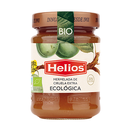 HELIOS Organic Green Plum Jam Jar with 350 net grams - Conservalia