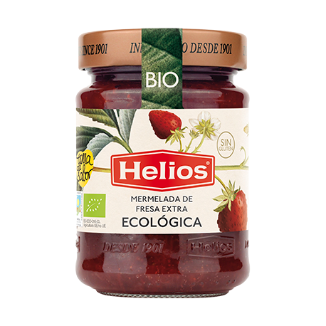 HELIOS Organic Strawberry Jam Jar with 350 net grams - Conservalia