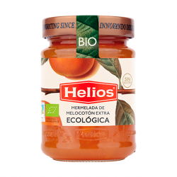 HELIOS Organic Peach Jam Jar with 350 net grams