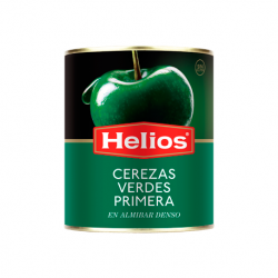 HELIOS Green Cherries in Light Syrup Can with 950 net grams