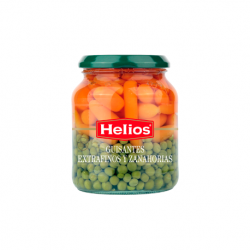 HELIOS Extrafine Peas and Carrots Jar with 340 net grams - Conservalia