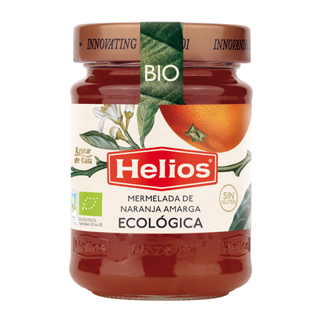 HELIOS Organic Bitter Orange Jam Jar with 350 net grams - Conservalia