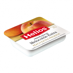 HELIOS Extra Peach Jam Portion with 25 net grams - Conservalia