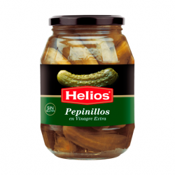 HELIOS Pickled Gherkins Jar with 1 kg net - Conservalia