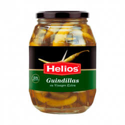 HELIOS Pickled Hot Peppers Jar with 1 kg net - Conservalia