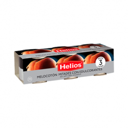 HELIOS Peach Halves without Added Sugar Pack of 3 Units with 555 net grams (3 x 185 g)
