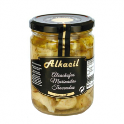 ALKACIL Chopped Marinated Artichoke Jar with 390 net grams