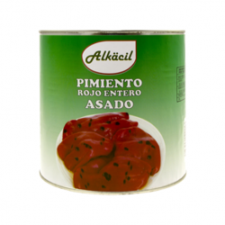 ALKACIL Roasted Whole Red Peppers Carton with 3 Cans of 2.500 net grams - Conservalia