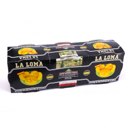 LA LOMA Peach Halves in Syrup Pack of 3 Units with 600 net grams (3 x 200 g)