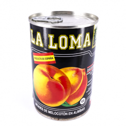 LA LOMA Peach Halves in Syrup Can with 420 net grams