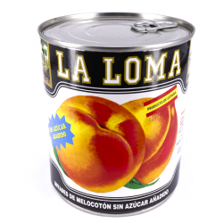 LA LOMA Peach Halves without added Sugar Can with 850 net grams