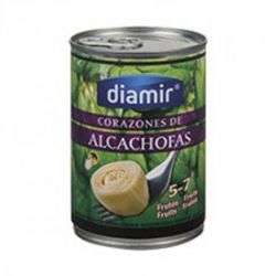 DIAMIR Artichoke Hearts in Brine 5/7 count Can with 390 net grams