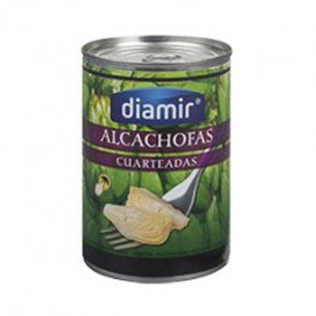 DIAMIR Quartered Artichoke in Brine 12/14 count Can with 390 net grams