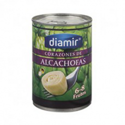 DIAMIR Artichoke Hearts in Brine 6/8 count Can with 390 net grams