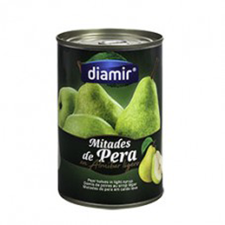 DIAMIR Pear Halves in Syrup Can with 420 net grams