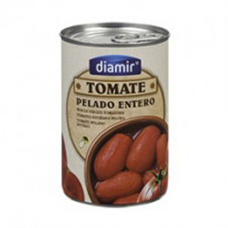 DIAMIR Peeled Whole Tomatoes Can with 390 net grams