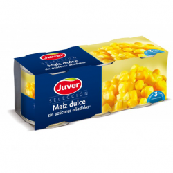 JUVER Sweet Corn Pack-3 Cans with 450 net grams (3 x 150 g)