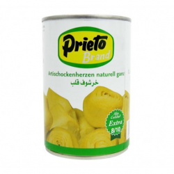 PRIETO Artichoke Hearts in Brine 8/10 count Can with 390 net grams