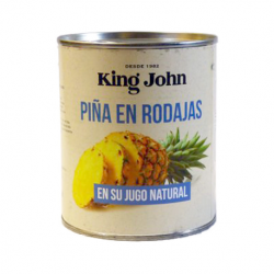 KING JOHN Sliced ​​Pineapple in Juice Can with 825 net grams
