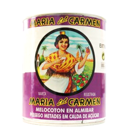 MARÍA DEL CARMEN Peach Halves in Light Syrup Can with 840 net grams