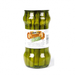 CELORRIO Short Green Asparagus Jar with 180 net grams