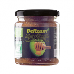 DELIZUM Organic Plum Jam with Agave Syrup Jar with 270 net grams