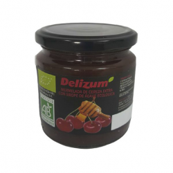 DELIZUM Organic Cherry Jam with Agave Syrup Jar with 270 net grams