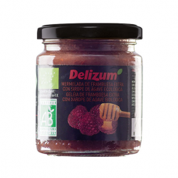 DELIZUM Organic Raspberry Jam with Agave Syrup Jar with 270 net grams