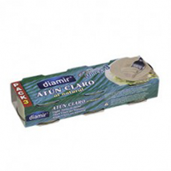 DIAMIR Natural Light Tuna Pack-3 Cans with 240 net grams (3 x 80 g)