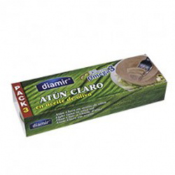 DIAMIR Light Tuna in Olive Oil Pack-3 Cans with 240 net grams (3 x 80 g)