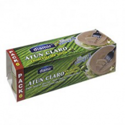 DIAMIR Light Tuna in Olive Oil Pack-3 Cans with 480 net grams (6 x 80 g)