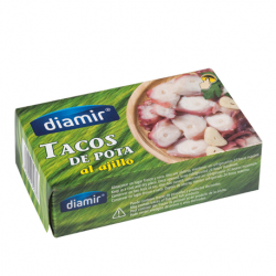 DIAMIR Pieces of Octopus with Garlic Can with 266 net grams
