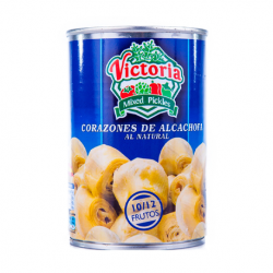 VICTORIA Artichoke Hearts in Brine 10/12 count Can with 390 net grams