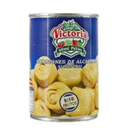 VICTORIA Artichoke Hearts in Brine 8/10 count Can with 390 net grams