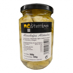 MEDITERRANEO Marinated Quartered Artichoke Hearts in Brine Jar with 360 net grams