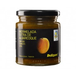 DELIZUM Organic Apricot Jam Jar with 270 net grams