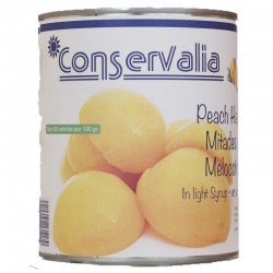 CONSEVALIA Peach Halves in Light Syrup Tin with 840 net grams