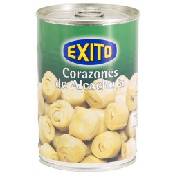 EXITO Artichoke Hearts in Brine 14/16 count Tray with 12 Cans of 400 net grams - Conservalia