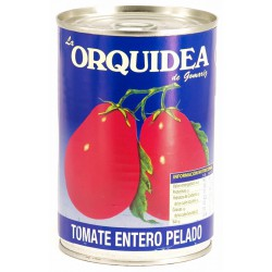LA ORQUIDEA Peeled Plum Tomatoes Tray whit 12 Cans of 400 net grams - Conservalia
