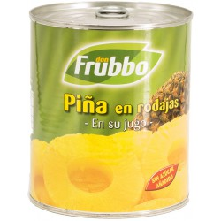 FRUBBO Sliced Pineapple in  Juice Tray with 12 Cans of 825 net grams - Conservalia