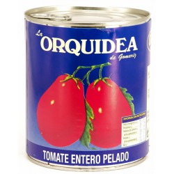 LA ORQUIDEA Peeled Plum Tomatoes Tray with 12 Cans of 800 net grams - Conservalia