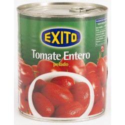 EXITO Peeled Plum Tomatoes Tray with 12 Cans of 780 net grams - Conservalia
