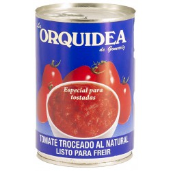 LA ORQUIDEA Chopped Tomatoes Tray with 12 Cans of 400 net grams - Conservalia