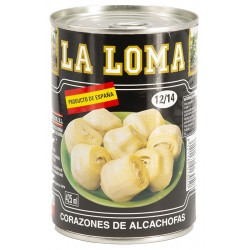 LA LOMA Artichoke Hearts in Brine 12/14 count Tray with 12 Cans of 390 net grams