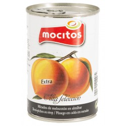 MOCITOS Peach Halves in Syrup Tray with 12 Cans of 420 net grams - Conservalia