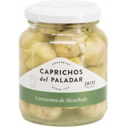 CAPRICHOS del PALADAR Artichoke Hearts in Brine 28/32 count One Pallet with 112 Trays with 12 Jars of 350 net grams